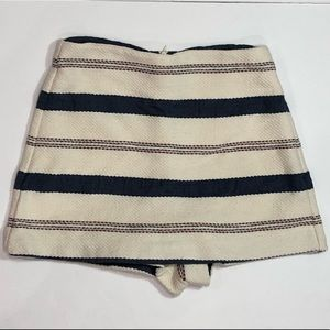 Zara hi waisted striped skort small